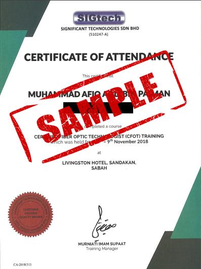 sigtech attendance cfot